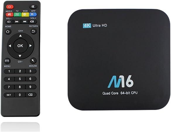 Android 7.1 TV Box 2G RAM+16G ROM 4K 3D HDMI 2.0 WIFI USB 2.0 Multimedia Amlogic S905X 64 Bits Cuatro nucleos Cortex-A53@1.5GHz: Amazon.es: Hogar