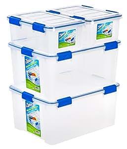Amazon Com Ziploc Weathershield 16 And 60 Quart Storage
