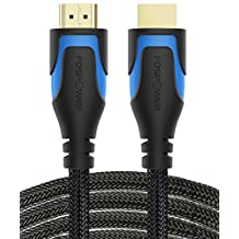 HDMI Cable CL3 Rated - 25FT / 7.6m, FosPower 4K Latest Standard 2.0 In-Wall HDMI Cable [UL Listed][Nylon Braided] - Ultra High Speed 18Gbps - Supports 4K 2160p UHD 3D HDR 1080p (24K Gold Plated Connector)