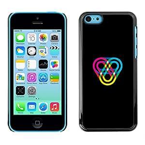 KLONGSHOP // Cubierta de piel con cierre a presión Shell trasero duro de goma Protección Caso - Color Track - iPhone 5C //