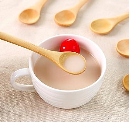 Hosaire 10PCS//Lot Petite Cuill/ère En Bambou Spoon Accessoires de cuisine