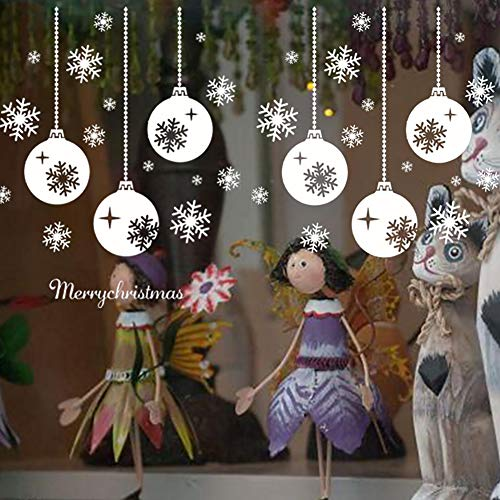 angel3292 Christmas Snowflake Lamp Removable Wall Sticker Window Art Decal Home Decor