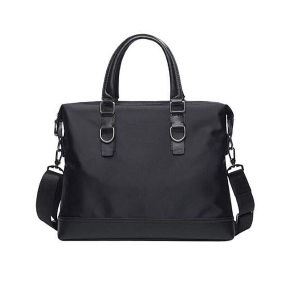 Color : Black Mens Casual Handbag Korean Version of Cross Section Oxford Cloth Size: 38729cm 8haowenju Briefcase