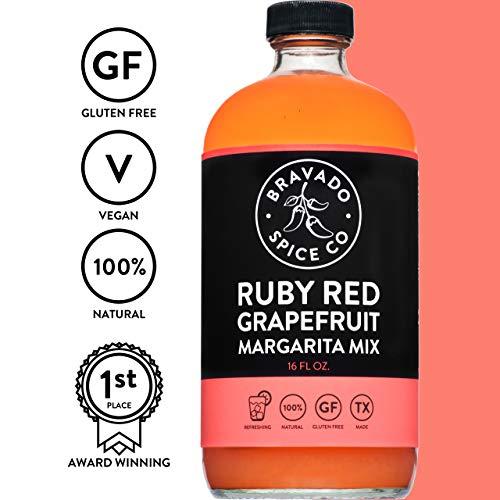 - Bravado Spice Ruby Red Grapefruit Margarita Mix 16oz | Gluten Free | Vegan | All Natural | Fresh