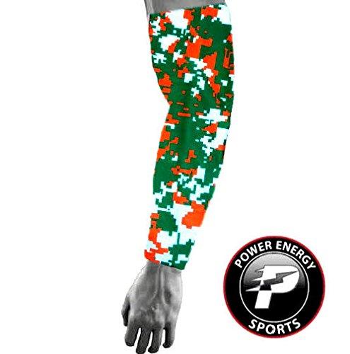 Baseball Sports Compression Arm Sleeve (Youth Medium) - Miami Hurricanes Digital - Hurricanes Miami Camo
