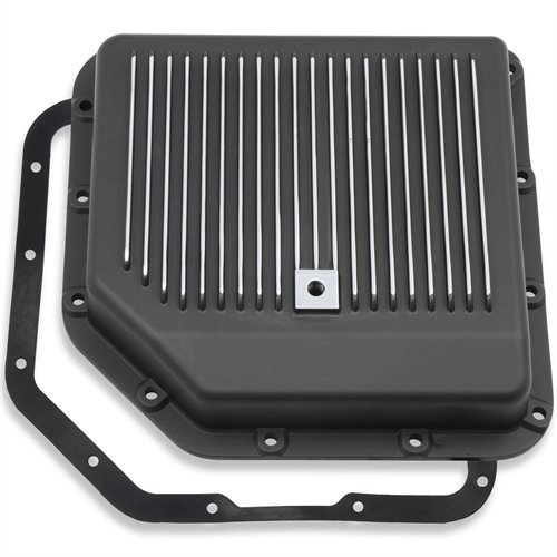 MR GASKET 9795BMRG Black Aluminum Automatic Transmission Oil Pan Gm Th-350
