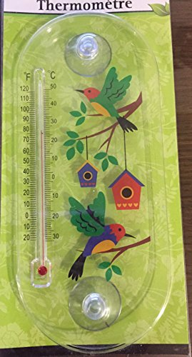 Garden Collection Thermometers (Hummingbirds) (Window Cling Thermometer compare prices)