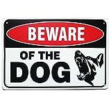SIGNT Beware of Dog Sign with Ferocious Dog Graphics Dog Yard Sign