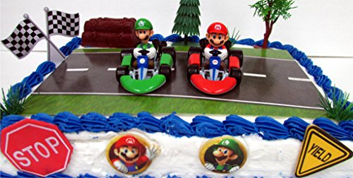 Go Kart Racing Mario Kart 12 Piece Birthday Cake Topper Set