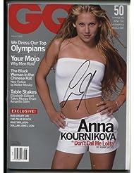 * ANNA KOURNIKOVA * sexy signed August 2000 GQ magazine / UACC RD # 212