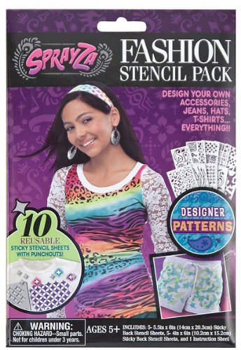 Melissa & Doug SprayZa Fashion Stencil Pack Patterns - ()