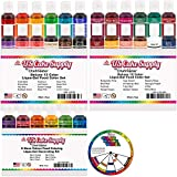 30 Color Cake Food Coloring Liqua-Gel Decorating Baking Ultimate Set - Primary, Secondary and Neon Colors - U.S. Cake Supply 0.75 fl. oz. (20ml) Bottles - Made in the U.S.A.