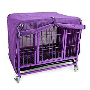 Homiego Mesh Pet Dog Kennel Cover, Breathable Anti Mosquito Dog Crate Net for Dog Wire Crate Summer Outdoor (M) Click on image for further info.