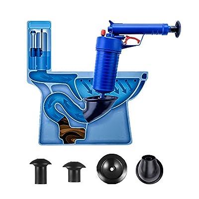Air Power Drain Blaster gun, High Pressure Powerful Manual sink Plunger Opener cleaner pump for Bath Toilets, Bathroom, Shower, kitchen Clogged Pipe Bathtub