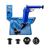 Air Power Drain Blaster gun, High Pressure Powerful Manual sink Plunger Opener cleaner pump for Bath Toilets, Bathroom, Shower, kitchen Clogged Pipe Bathtub(Blue)