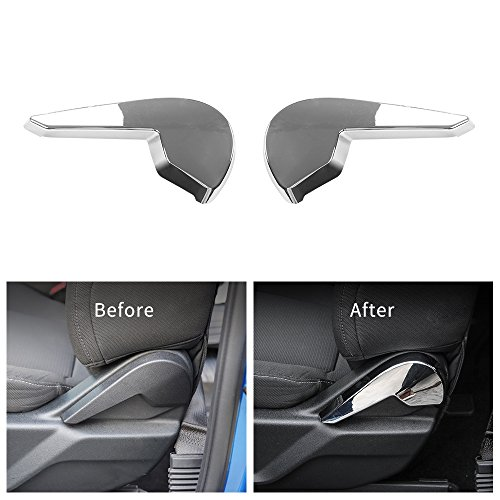 Voodonala Chrome Seat Adjustment Handle Decoration Cover Frame Trim for Ford F150 2015 2016 2017