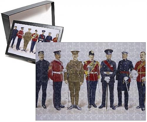 British Officer Uniform Costume (Photo Jigsaw Puzzle of The Staffordshire Regiment)