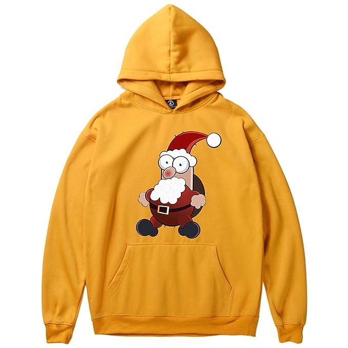 ♚ Sudadera Santa Estampada para Hombre, Hombre Mujer Invierno Santa Claus Estampado Manga Larga Sudadera con Capucha Tops Blusa Absolute: Amazon.es: Ropa y ...