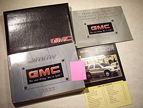 2000 gmc jimmy owners manual gmc amazon com books rh amazon com