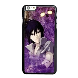 Grouden R Create and Design Phone Case, Sasuke Uchiha Cell Phone Case for iPhone 6 6S plus 5.5 inch Black + Tempered Glass Screen Protector (Free) LPC-0656782