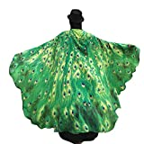 Hemlock Prop Soft Fabric Butterfly Wings Shawl Fairy Ladies Nymph Pixie Costume Accessory (Green)