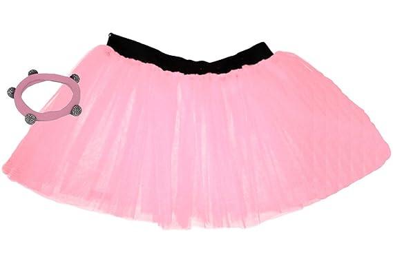 391d7b7a3 A-Express Childrens Kids Girls Neon 3 Layers Net UV Flo Hen Fancy Dress  Party Tutu Skirts Shamballa: Amazon.co.uk: Clothing