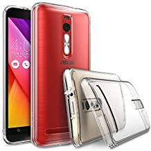 """ASUS ZenFone 2 (5.5 Inch) Case - Ringke FUSION ***Earphone Hole Dust Cap & Drop Protection*** [FREE HD Film][CRYSTAL VIEW] Premium Clear Back Shock Absorption Bumper Hard Case for ASUS ZenFone 2 [ZE550ML/ZE551ML 5.5"""" - Not for ZE500CL] - Eco/DIY Package"""