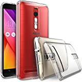 """ASUS ZenFone 2 (5.5 Inch) Case - Ringke FUSION ***Earphone Hole Dust Cap & Drop Protection*** ENHANCED AND REVISED [FREE HD Film][CRYSTAL VIEW] Premium Clear Back Shock Absorption Bumper Hard Case for ASUS ZenFone 2 [ZE550ML/ZE551ML 5.5"""" - Not for ZE500CL] - Eco/DIY Package ..."""