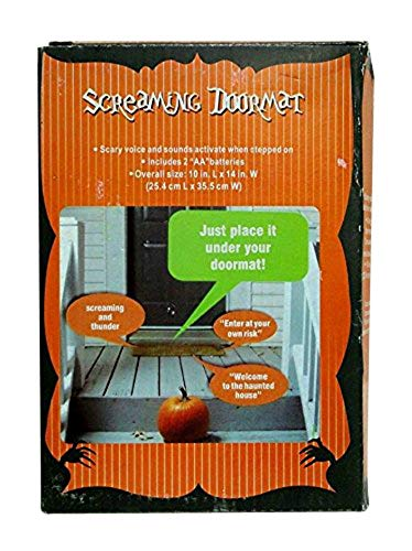 Halloween 1 X Pressure Sensitive SCREAMING DOORMAT Decoration BATTERY OPERATED (Just Place It Under Your -