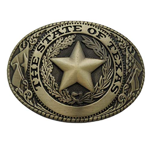 - State Of Texas Seal Belt Buckle Westerm Cowboy Buckles