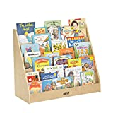 ECR4Kids Birch Plywood Single-Sided Book Display, 15-Inch, Natural