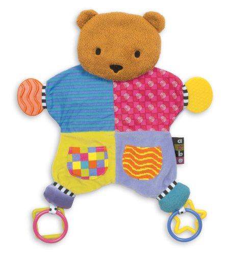 (Amazing Baby Plush Bear Teether Blanket,)