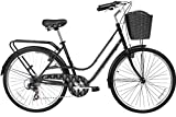 Gama Bikes City Avenue 26 – Women's Cruiser Bike - Step-Through Comfort Frame, 6 Speed Shimano -  Hybrid Urban Commuter Road Bicycle - Great for Beach Cruising, Exercising and All Around Fun – Black