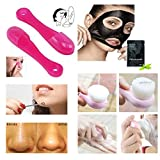 Great Quality Complete 11pcs Face Care Beauty Cosmetics And Accessories Set With Ultra Soft Pore Cleaning Exfoliation Brushes, Stainless Steel Eye Hole Design Facial Blackhead Remover / Acne Pimple Extractor, Deep Cleansing / Purifying Facial Peel Off Masks And Silicone Pores Cleaners Tools By VAGA