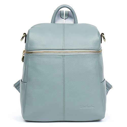 BOSTANTEN Women Casual Leather Backpack Purse Satchel Shoulder School Bags (Attention Satchel)