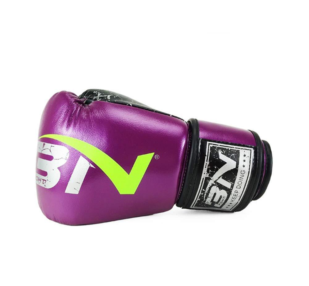Ghqz Bn In Microfibra Pelle Di Fascia Alta Guantoni Da Boxe Adulti Fighting Muay Thai Boxing Club,purple10Oz