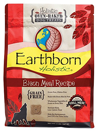 Earthborn Holistic Bison Meal Recipe Oven-baked Dog Treats - 2lbs (Recipes Bison)