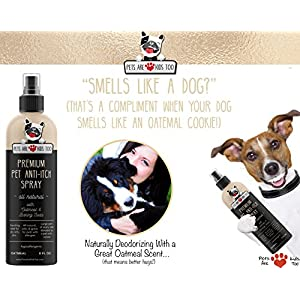 NEW Premium Pet Anti Itch Oatmeal Spray & Scent Freshener! ALL NATURAL & Hypoallergenic! Soothes Dogs & Cats Itchy, Dry, Irritated Skin! Reduces Odor & Leaves Pet Smelling Amazing! 1 btl - 8oz