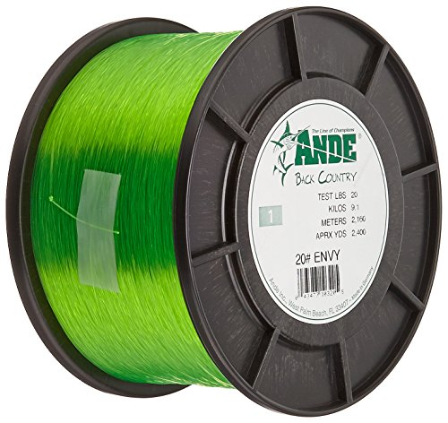 ANDE A1-20GE Premium Monofilament, 1-Pound Spool, 20-Pound Test, Bright Green Finish ()