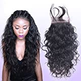 "Remeehi Wholesale 3.5"" x4"" Curly Lace Frontal Brazilian Human Hair Lace Top Closure (8"" Natural Color)"
