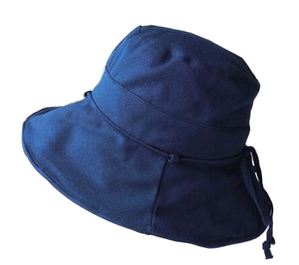Alien Storehouse [Dark Blue] Lady Foldable Sun Hat Elegant Top Hat Dress Hat Beach Hat