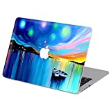 Customized Famous Painting Series Boat on the River Special Design Water Resistant Hard Case for Macbook Pro 15'' with Retina Display (Model A1398)