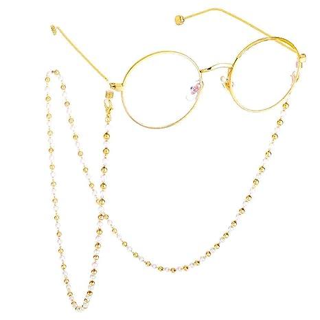 Cadena de Gafas Gafas de Sol de imitación de Perlas Gafas de ...