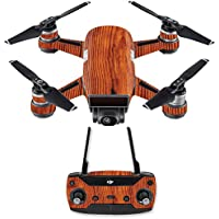 Skin for DJI Spark Mini Drone Combo - Knotty Wood| MightySkins Protective, Durable, and Unique Vinyl Decal wrap cover | Easy To Apply, Remove, and Change Styles | Made in the USA