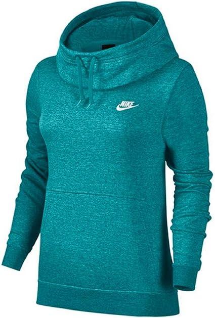 Definir soltar Punto  Nike Funnel Neck Fleece - Sudadera con capucha para mujer Teal/White M:  Amazon.es: Ropa y accesorios