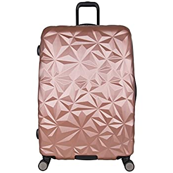 Image of Luggage Aimee Kestenberg Women's Geo Chic 28' Hardside Expandable 8-Wheel Spinner Checked Luggage, Rose Gold