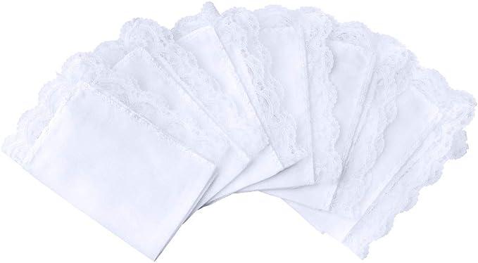 Gomerbesen Gradient Floral Ladies Handkerchiefs 100/% 60S Cotton Hankies for Wedding Party