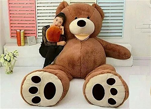 VERCART 79 inch Deep Brown Giant Teddy Bear Stuffed Animal Plush Toys Gift for Kids Friends by VERCART