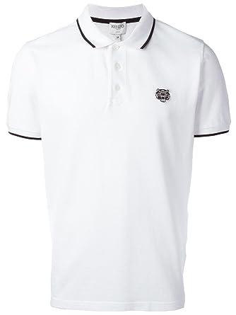 cf7fc839e Kenzo Men's F755PO0014BA01 White Cotton Polo Shirt: Amazon.co.uk ...