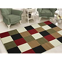 """Sweet Home Stores Modern Boxes Design Area Rug 7'10 X 9'10"""" , Multi-Color"""